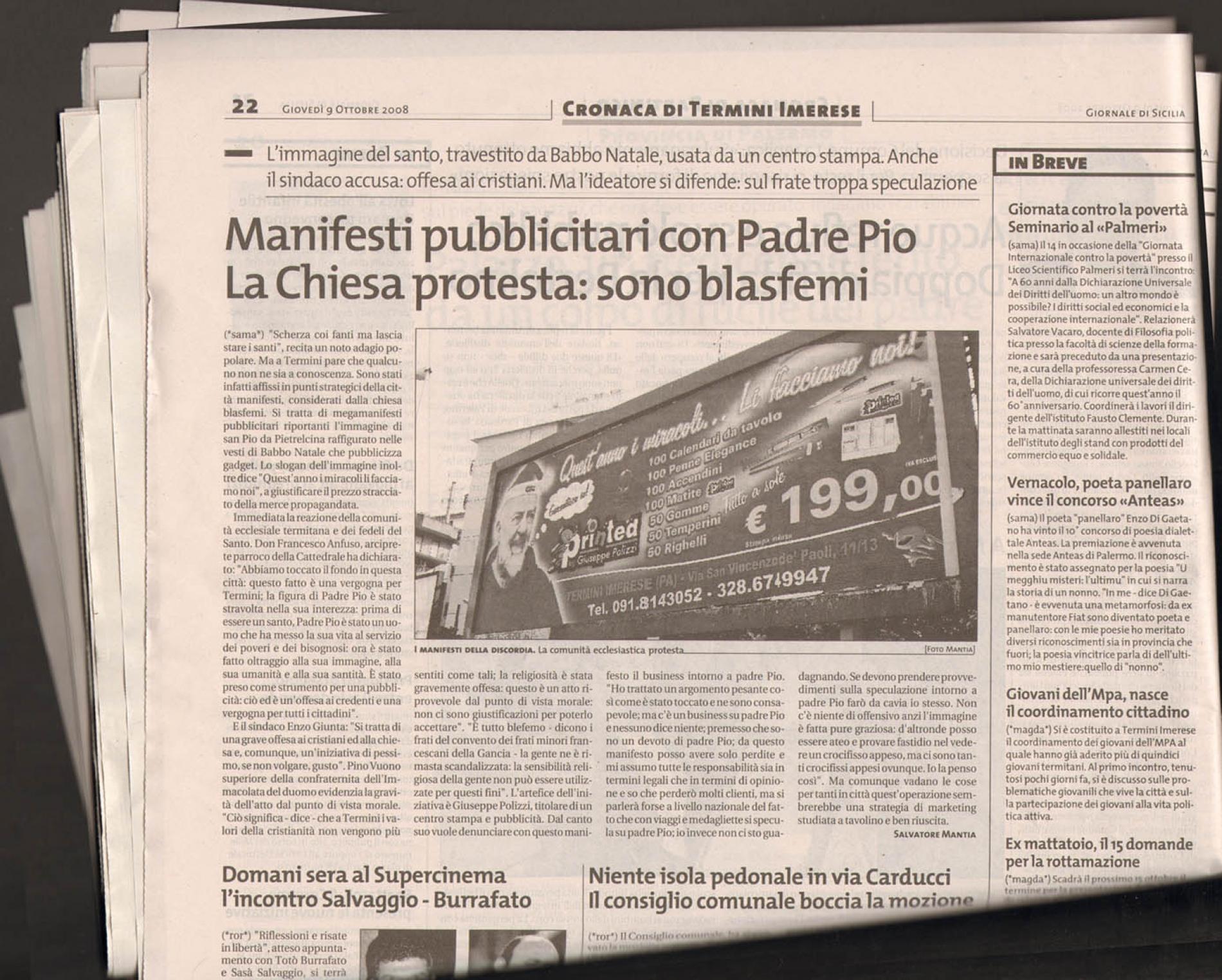 printed giornale di sicilia
