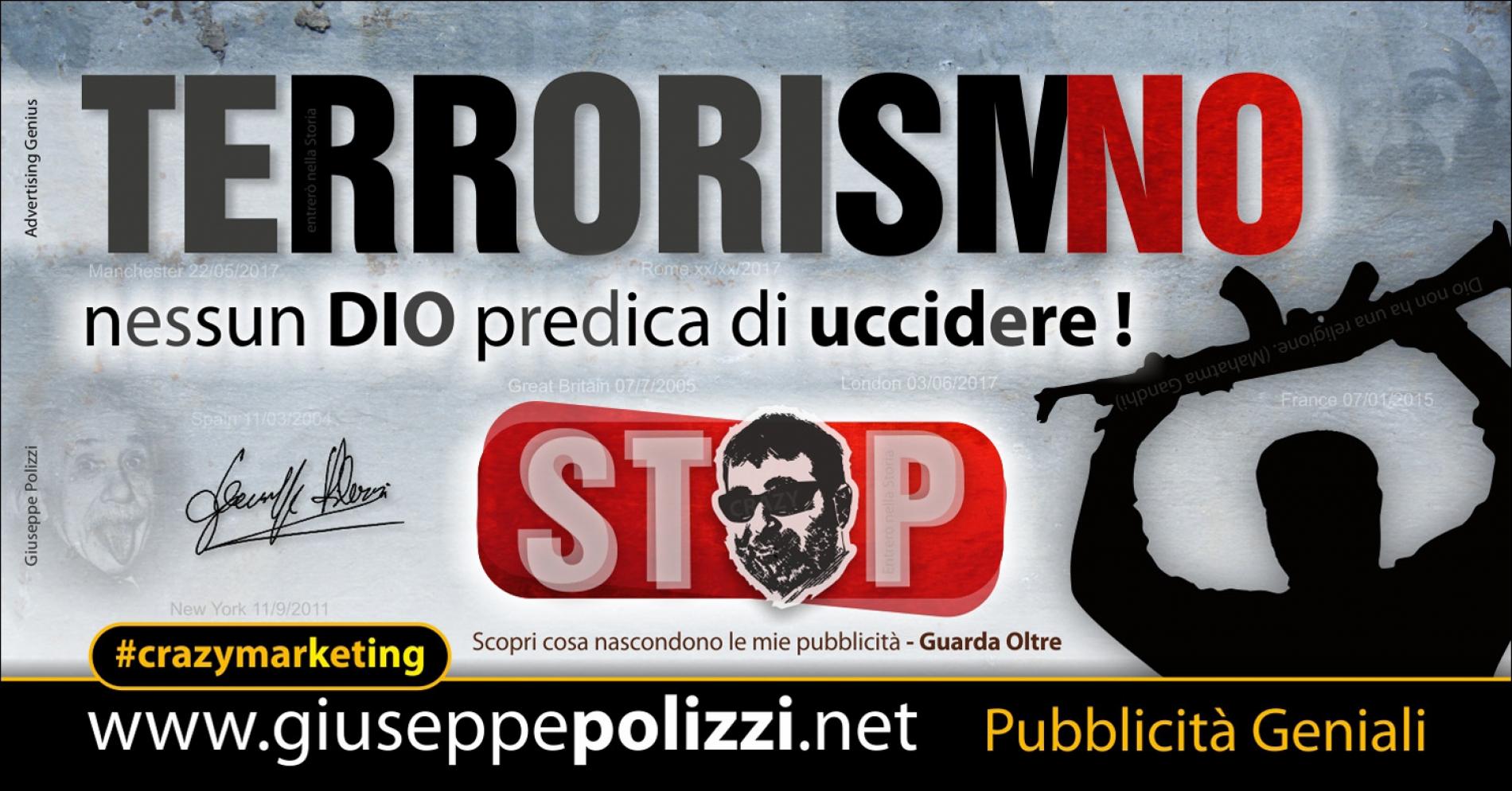 giuseppe Polizzi pubblicita  TERRORISMO crazymarketing genius