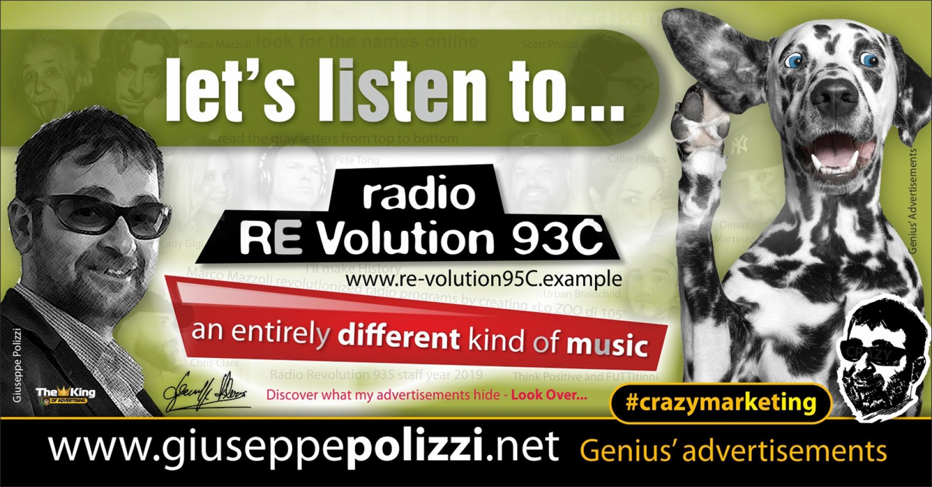 giuseppe polizzi crazymarketing Listen Radio RE VOLUTION advertising genius 2019