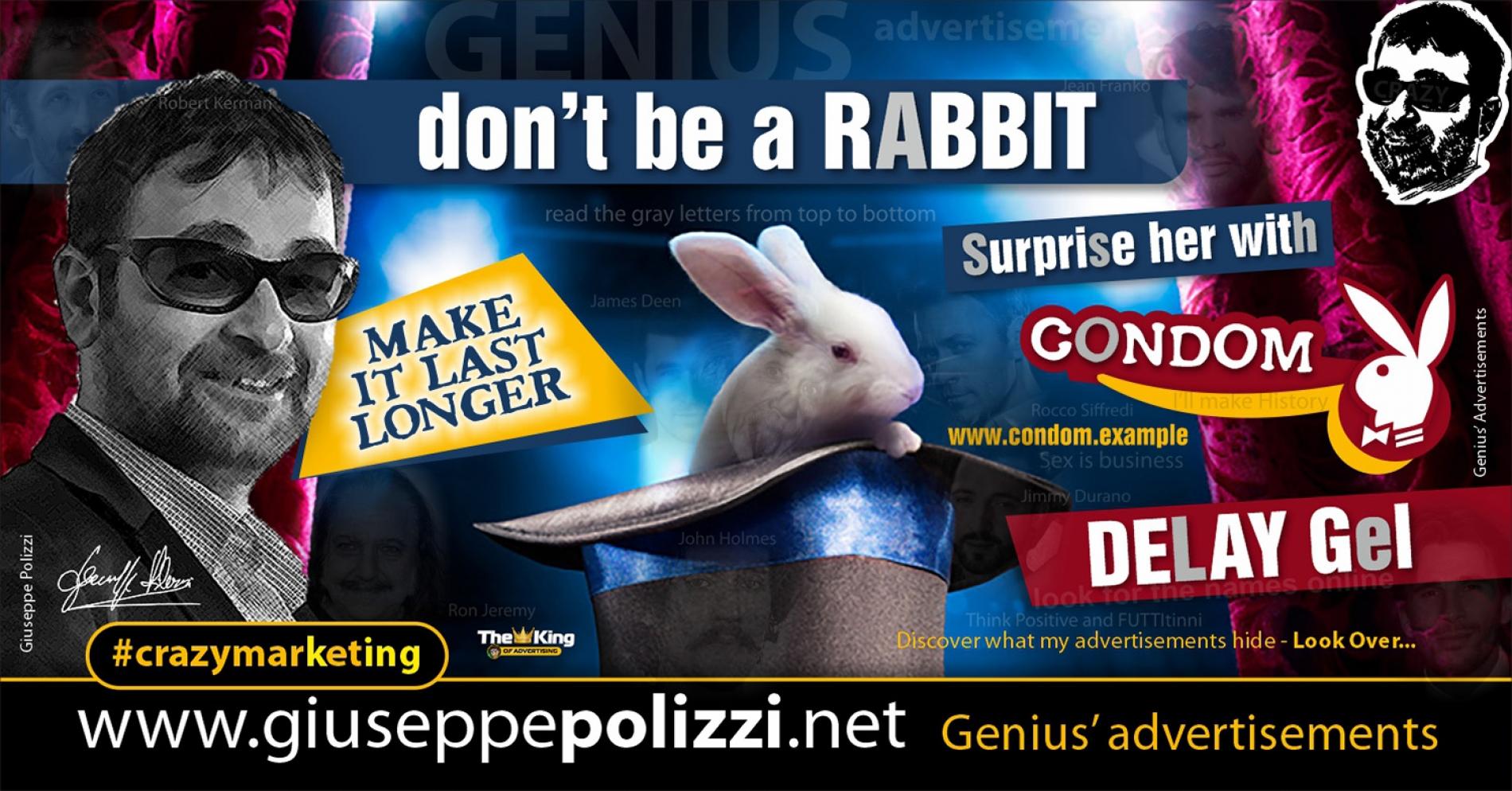giuseppe polizzi crazymarketing Rabbit advertisements