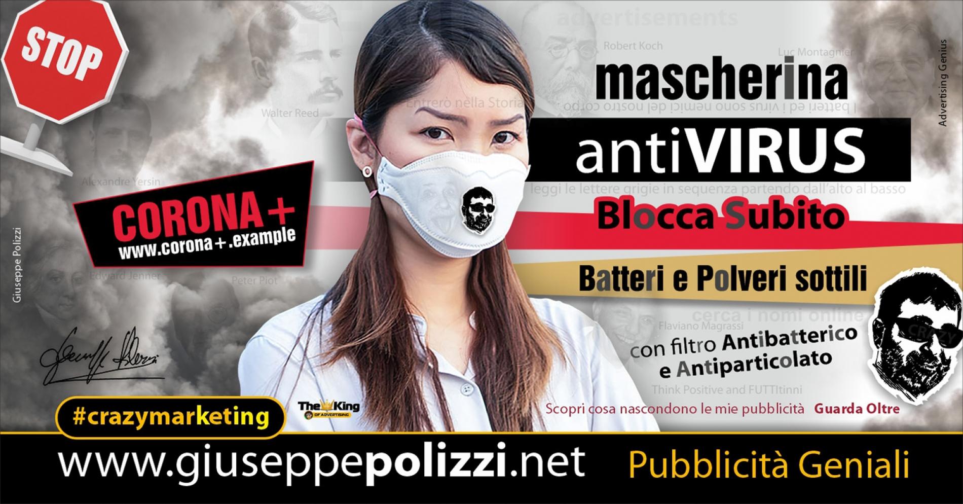 Giuseppe Polizzi Crazymarketing Corona Virus Pubblicità geniali