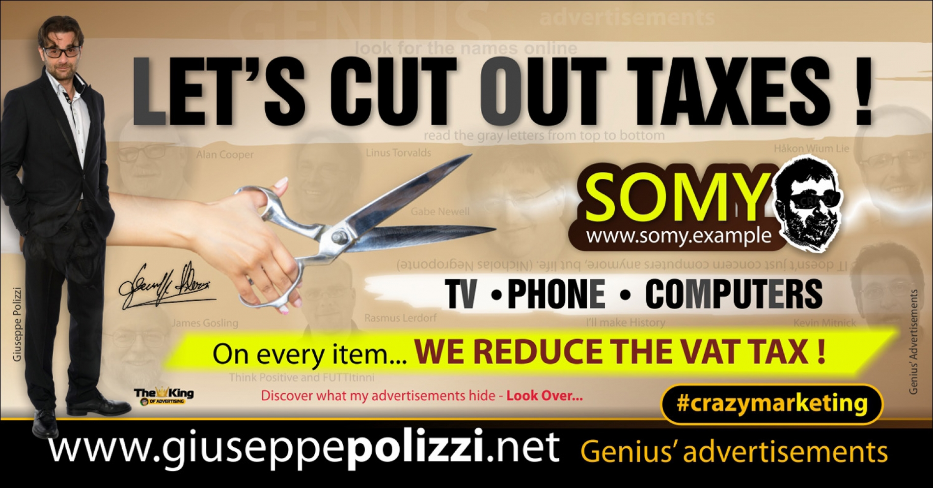 giuseppe polizzi crazymarketing Cut  Out Taxes genius  2018 advertising