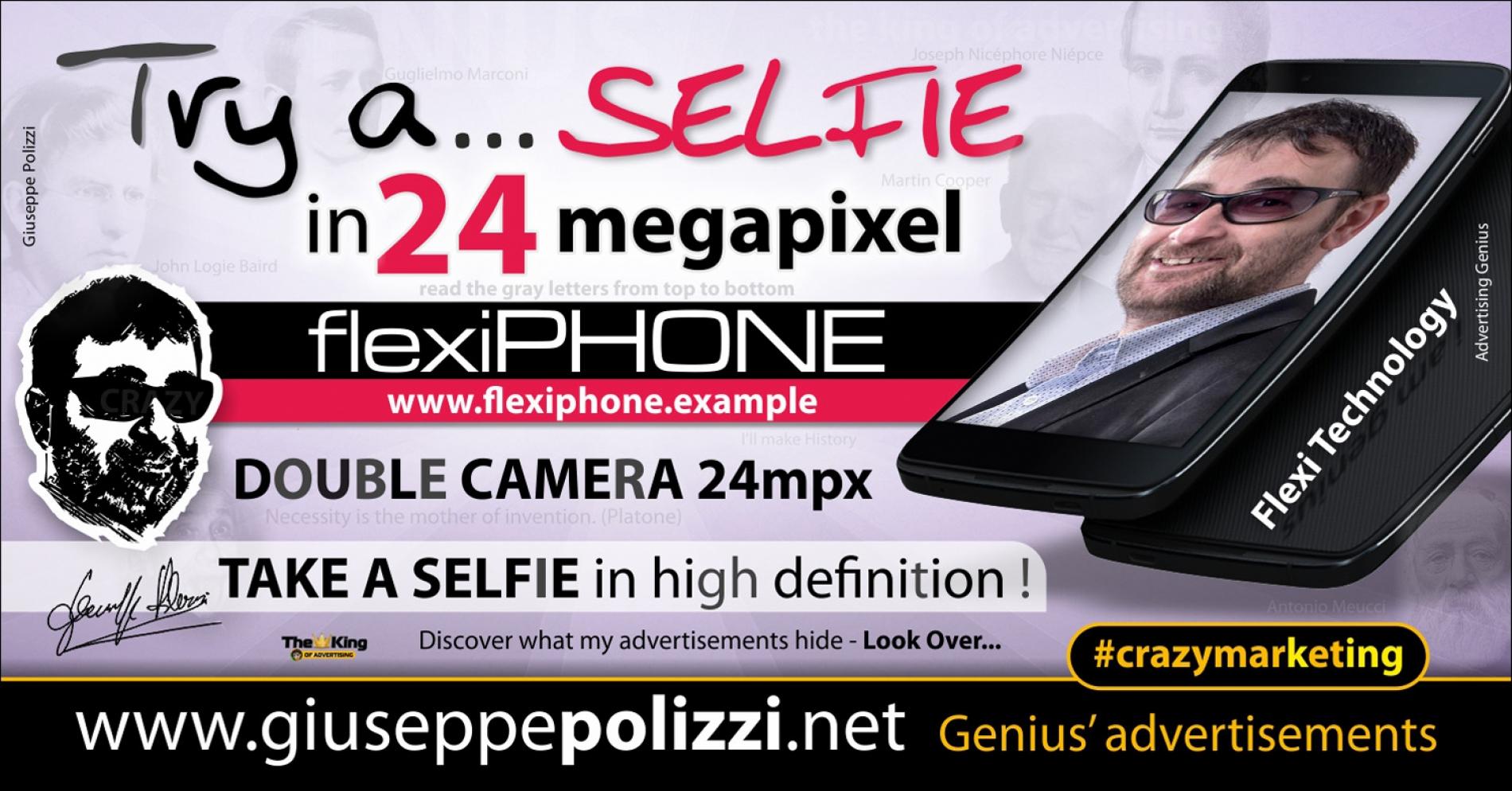 giuseppe polizzi advertisement Try a Selfie crazy marketing genius  2017