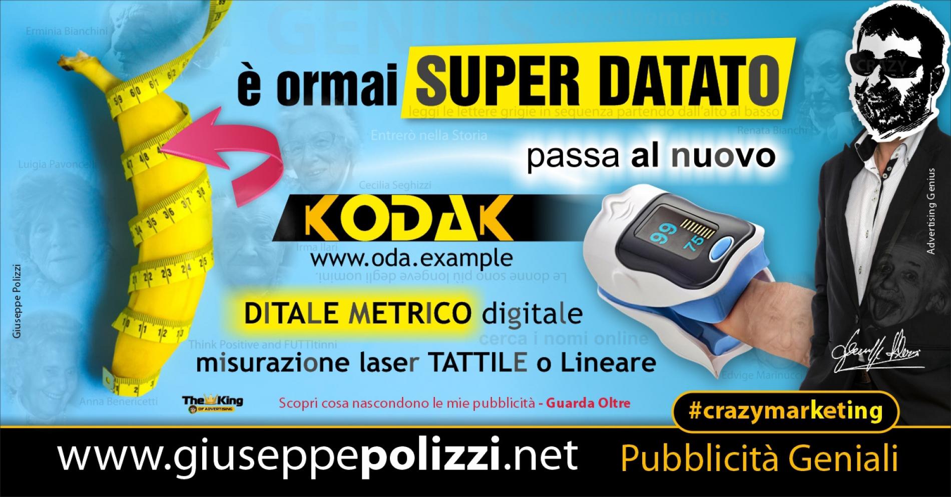 Giuseppe Polizzi Crazymarketing è Super Datato pubblicità geniali
