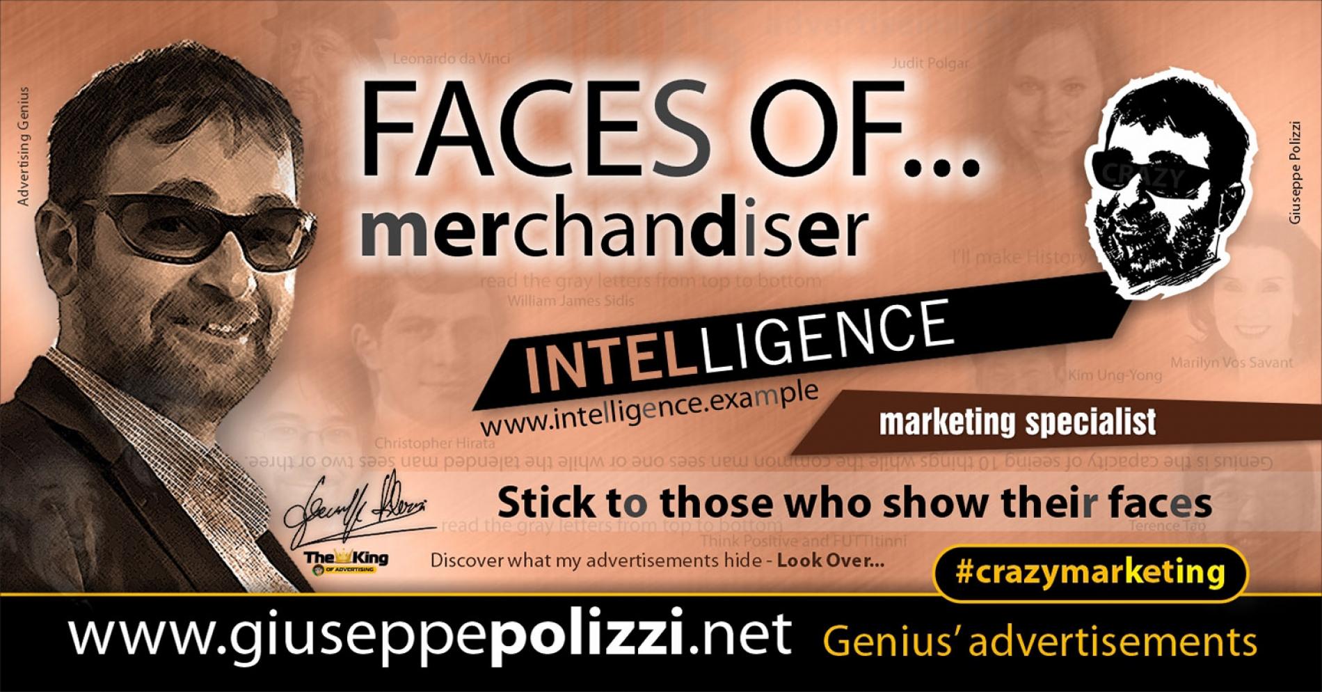 Giuseppe Polizzi Crazymarketing Faces od Merchaindiser advertisements eng