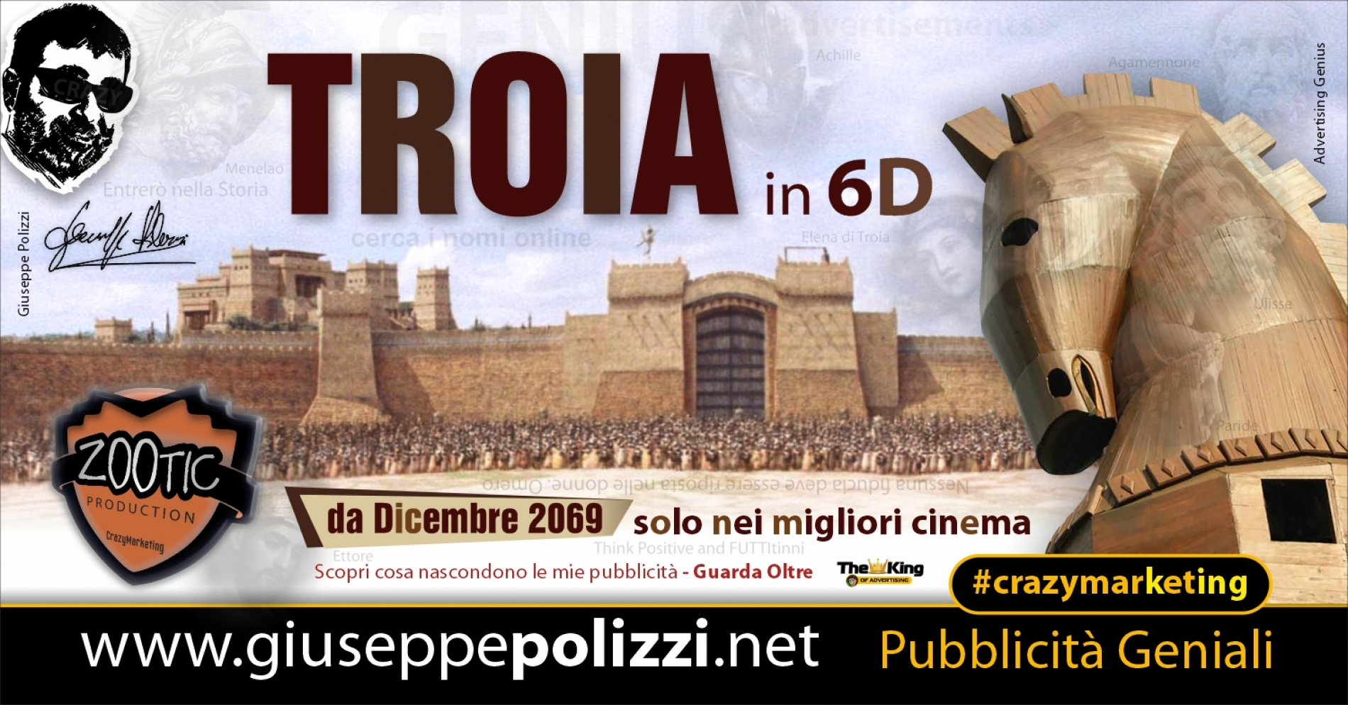 Giuseppe Polizzi Crazymarketing TROIA pubblicità geniali