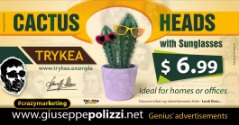 Giuseppe Polizzi Crazymarketing Cactus Heads advertisements eng