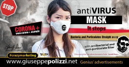 Giuseppe Polizzi Crazymarketing Antivirus Mask advertisements