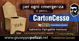 Giuseppe Polizzi crazymarketing CartonCesso pubblicità geniali