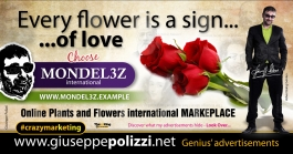 giuseppe polizzi Every flower is a sign of LOVE crazy marketing genius  2017