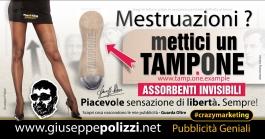 giuseppe polizzi pubblicità MESTRUAZIONI crazy marketing genius