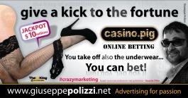 giuseppe polizzi pubblicità 2016 crazy marketing fortuna gioco inglese