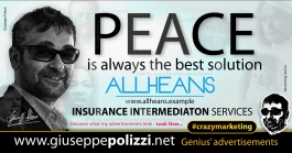 giuseppe polizzi advertisement PEACE crazy marketing genius  2017