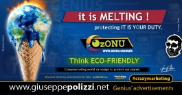 Giuseppe Polizzi Crazymarketing  Think ECO FRIENDLY advertisements