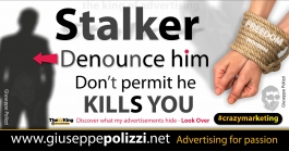 giuseppe polizzi pubblicità 2016 crazy marketing stalker inglese