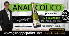 giuseppe Polizzi Champagne ANALcolico crazymarketing pubblicita geniali