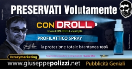 giuseppe Polizzi crazymarketing PRESERVATI Volutamente  pubblicità geniali