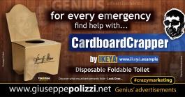 giuseppe polizzi crazymarketing Cardboard Crapper genius 2019