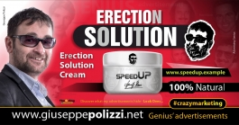 Giuseppe Polizzi Crazymarketing Erection Solution advertisements