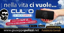 giuseppe Polizzi pubblicita  Ci vuole CULtO crazymarketing genius