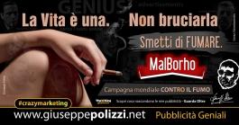 giuseppe Polizzi crazymarketing Campagna Anti Fumo  pubblicità geniali