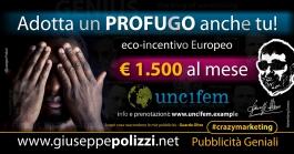 giuseppe Polizzi pubblicita ADOTTA un PROFUGO crazymarketing genius