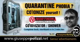 giuseppe polizzi pubblicità quarantine phobia  Crazy Marketing  2020