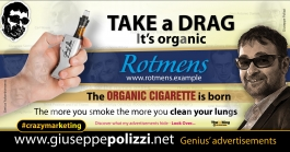 giuseppe polizzi crazymarketing TAKE A DRAG genius  2018 advertising