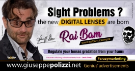 giuseppe polizzi crazymarketing Sight Problems  genius  2018 advertising