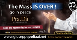 giuseppe polizzi crazymarketing The mass IS OVER advertisements