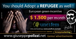giuseppe polizzi Adopt a Refugee  crazy marketing genius  2017