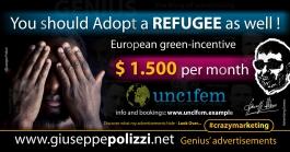 giuseppe polizzi Adopt a Refugee  crazy marketing genius  2017