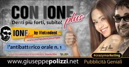 giuseppe Polizzi crazymarketing CON IONE plus  pubblicità geniali