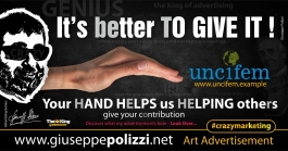giuseppe polizzi advertisement  its better TO GIVE IT crazy marketing genius  2017