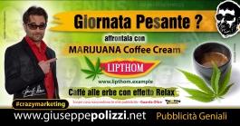 giuseppe Polizzi Marijuana Coffee Cream crazymarketing pubblicita geniali
