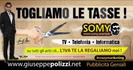 giuseppe Polizzi crazymarketing Togliamo le Tasse pubblicità geniali