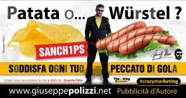 giuseppe polizzi pubblicità 2016 crazy marketing patatine 2016