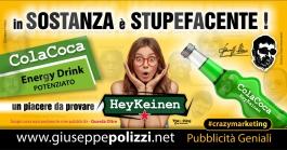giuseppe Polizzi crazymarketing Sostanza Stupefacente  pubblicità geniali