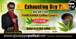 giuseppe polizzi Marijuana coffee cream crazymarketing genius  2018