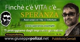 giuseppe Polizzi Finchè c'è VITA c'è SPERANZA crazymarketing pubblicita geniali