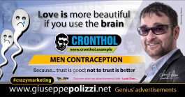 giuseppe polizzi crazymarketing Men Contraception genius 2019