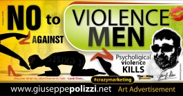 giuseppe polizzi pubblicità violenza uomo crazy marketing genius inglese  2016