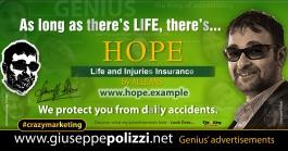 giuseppe Polizzi HOPE crazymarketing pubblicita geniali