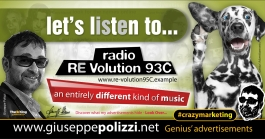 giuseppe polizzi crazymarketing Listen Radio RE VOLUTION advertising genius 2019