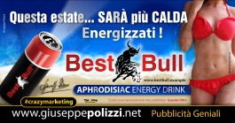 giuseppe Polizzi pubblicita Sarà più Calda ! crazymarketing genius