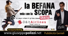 giuseppe Polizzi crazymarketing La Befana pubblicità geniali
