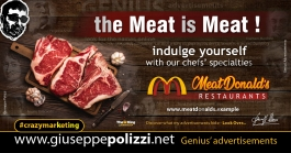 giuseppe polizzi crazymarketing The meat is Meat advertisements