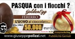 giuseppe Polizzi pubblicita UOVO di PASQUA crazymarketing genius