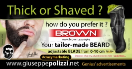 giuseppe polizzi advertisement thick or shaved crazy marketing genius  2017
