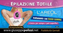 giuseppe Polizzi crazymarketing Epilazione Totale pubblicità geniali